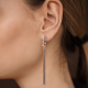 Auskarai HANGING THICK CHAIN EARRINGS